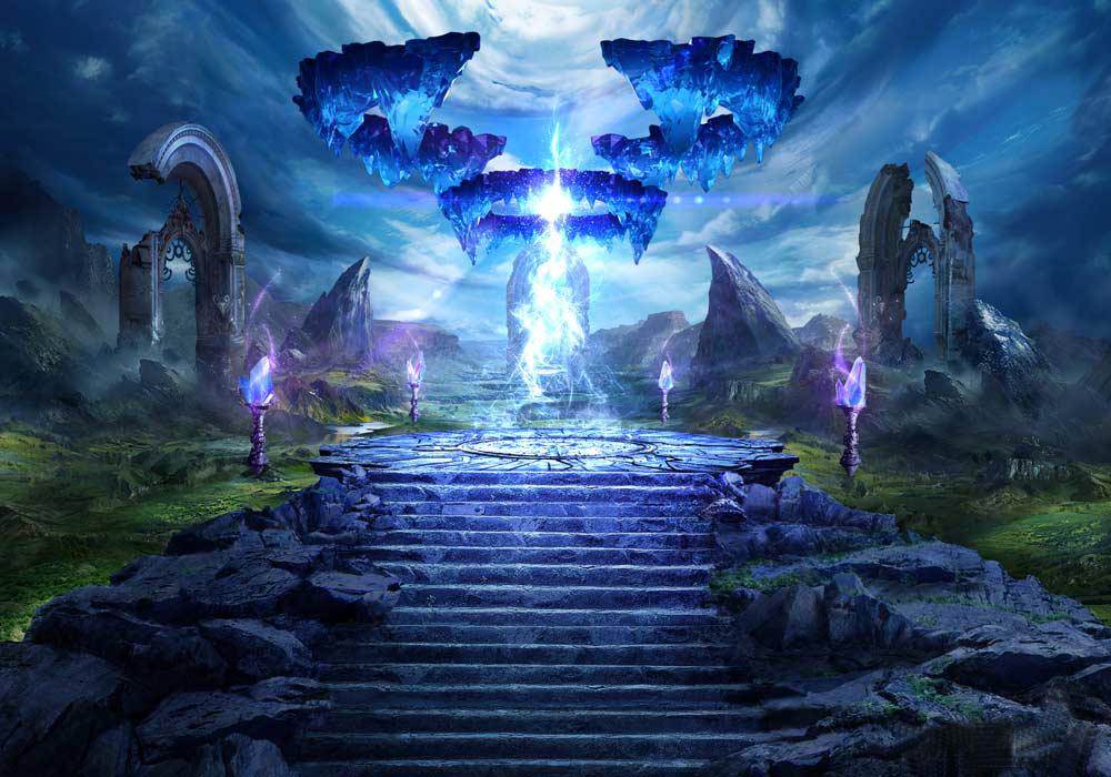 图为水晶藏宝地穴游戏场景设计图.图片